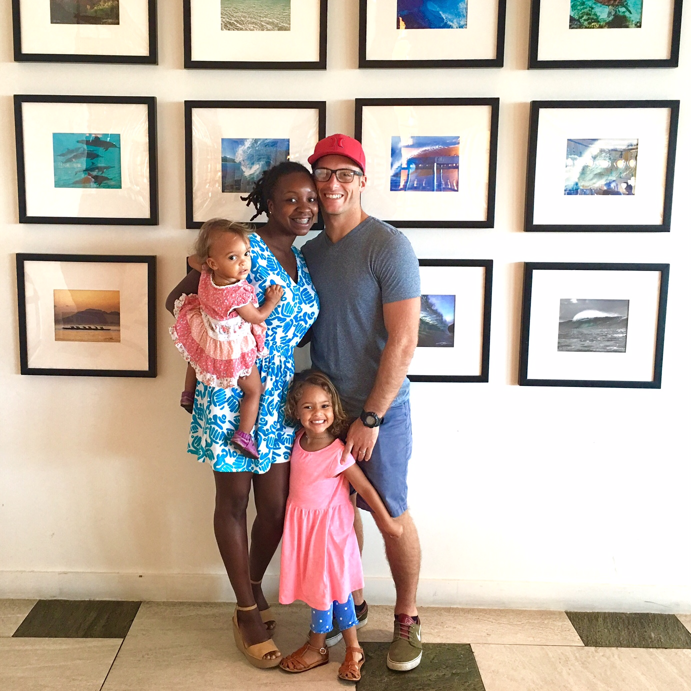 Anjelica Malone and family