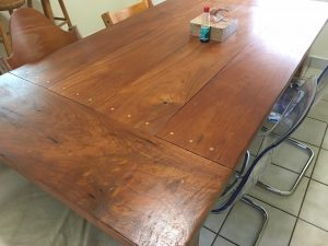 Handmade kitchen table by Brett