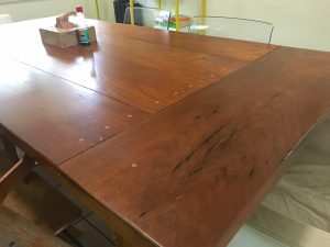Handmade kitchen table by Brett Malone