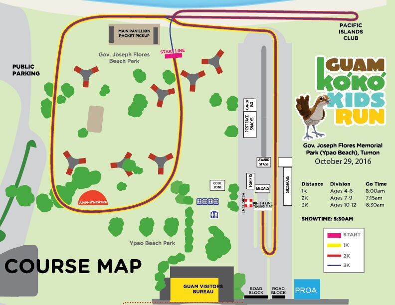 2016 Ko'Ko Kids Run Course Map
