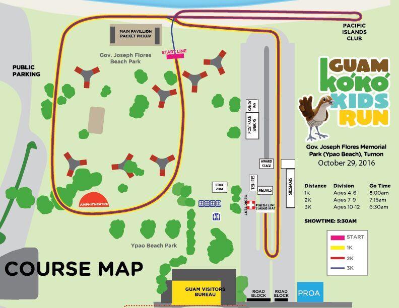 2016 Ko'Ko Kids Run Course Map