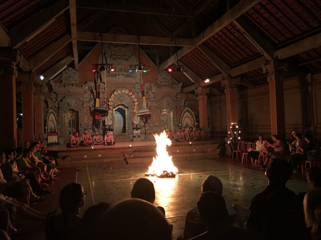 Fire Trance Performance in Ubud, Bali