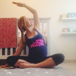 Kelsey doing prenatal yoga