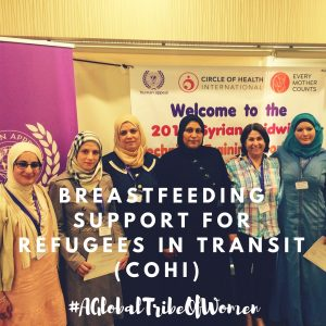 Why should refugees be supported to breastfeed?
