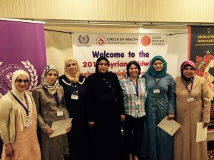 Syrian midwives training