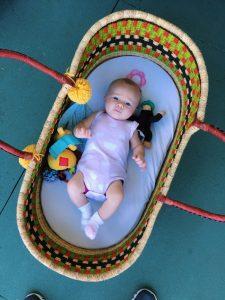 Baby Kyla Oviedo in Paisley & Sparrow Basket