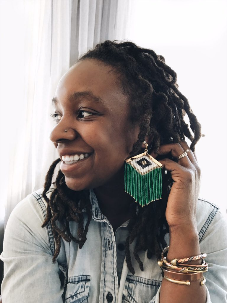 Ethical gold earrings made in Colombia